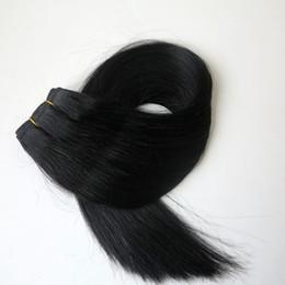$enCountryForm.capitalKeyWord Canada - Brazilian hair wefts Human Hair Weaves 100g 20inch 1# Jet Black hair bundles tangle free indian hair extensions