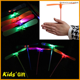$enCountryForm.capitalKeyWord Canada - Novelty Children Funny Toys Led Fly Helicopter Flash Bamboo Dragonfly LED Flying Lights Toys Luminous Dragonfly Colorful Kids Christmas Gift