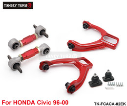 Discount honda lower arms Tansky -- High-performance Rear Lower Control Arms+ Front Camber Kits Fits For Honda Civic CX Si TK-FCACA-02EK
