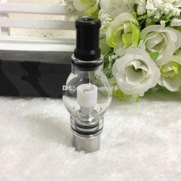 Ingrosso Secco Herb Wax atomizzatore serbatoio a base di erbe Vaporizzatore Bulb glassromizer Pyrex Vetro globo clearomizer nucleo in ceramica per eGo vision Batteria E sigarette