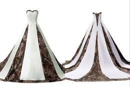 $enCountryForm.capitalKeyWord Australia - Elegant Camo Wedding Dress Cheap Plus size Sweetheart 2018 A line Corset Back Beaded Applique Big Train Bridal Gowns For Wedding
