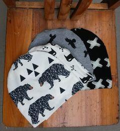 $enCountryForm.capitalKeyWord Canada - 2016 New style kids INS purified cotton hats children fashion cartoon caps INS Batman fox beanies panda tiger hats winter printed Baby caps