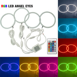 $enCountryForm.capitalKeyWord Australia - LEEWA 4pcs Car RGB 5050SMD LED Flash Angel Eyes Halo Ring Light for BMW E30 E32 E34 DRL Headlight #4409