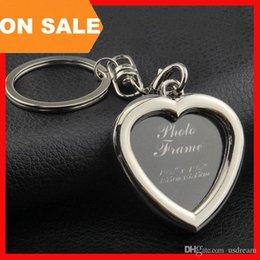 photo locket man NZ - 6 models photo frame keychain alloy locket picture key chain heart apple Square key rings heart apple bag pendants fashion jewelry 240241