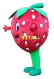 Vente en gros Costume de mascotte fraise vente chaude costume de dessin animé livraison gratuite