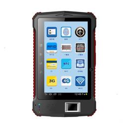 """usb fingerprint scanners 2019 - Wholesale- China 7"""" Industrial Rugged Tablet Fingerprint UHF RFID 2D Laser Barcode Scanner Android 6.0 Handheld Ter"""