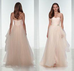 2015 tulle bridesmaids dresses sweetheart corset floor length beaded wedding party dresses beaded prom gowns custom made discount corset under wedding dress