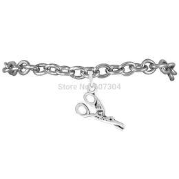 $enCountryForm.capitalKeyWord Canada - 10Pcs Lot Zinc Alloy Antique Silver Plated Trendy Scissor Accessories Bracelet Jewelry Made In China
