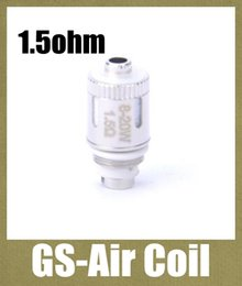Discount air coils - GS-Air Coil 1.5ohm Replacement Coil Core for GS Air Atomizer Huge Vapor Tank heating coil head dual coils fit 20W FJ065