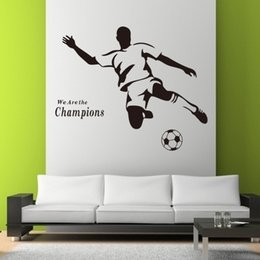 Football Boy Wallpaper 3d Wall Stickers 8257 For Kids Room Vinyl Removable  Art Mural Home Decor Football Home Decor Part 76