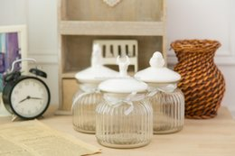 $enCountryForm.capitalKeyWord NZ - Small American Country Style Glass Jar with Ceramic Bird Lid Airtight Kitchen Canister for Food Dried Fruit Candy Storage