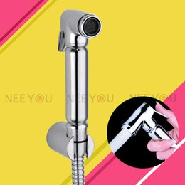 Free Shipping Chrome Brass Bidet nozzle sprinkler Bidet Sprayer Women cleaning equipment Soft Flow Hand shower set 150cm hose Wall Bracket from flow hose manufacturers