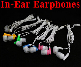 5s Color Headphones Canada - New colors In-Ear Earbuds earphone Headphone 3.5mm Earbud Earphone For MP3 Mp4 iphone4 iphone5 5S 3.5mm Audio,1000pcs Free DHL Fedex