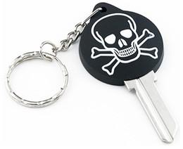 $enCountryForm.capitalKeyWord Australia - 100 pieces color rubber 3d SKULL house key blanks in KW10 for Kwikset locks or SC1 for Schlage locks