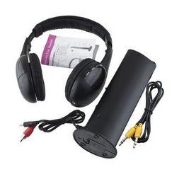 Wireless Headphone Tv Canada - 1PCS 5 in 1 DJ Gaming HiFi Wireless Headphone Earphone Headset FM Radio Monitor MP3 PC TV Mobile Phones Headphones