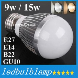 Chinese  Factory Diectly Sale Led Bubble Ball Bulb Globe Bulb E27 E26 GU10 B22 E14 9w 15w AC 85-265V Led Globe Bulb Lamp Lights manufacturers