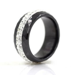 $enCountryForm.capitalKeyWord UK - High Qulity Black And White Simple Style Comly Crystal Ceramic Rings For Women