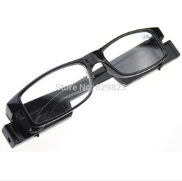 Chinese  Wholesale-500PCS LOT Led Reading Glasses Reading Glass with LED Light glasses power +1 +1.5 +2 +2.5 +3 +3.5 +4 freeshipping manufacturers