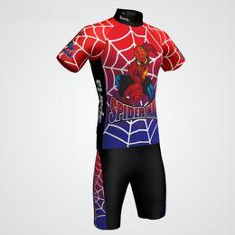Boys Bikes Canada - Children's Cycling Jersey Short Sleeve Bike Boy's Cycling Jersey spiderboy Rider kids short sleeve cycling jersey and pant suit
