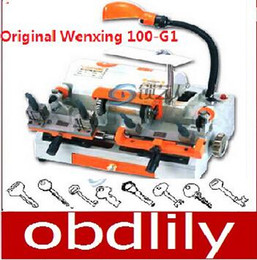 Wenxing Keys Cutting Machine Canada - 100% Original Multifunction Wenxing 100-G1 Key Cutting Machine 2 Clamp Double Head Key Machine Free DHL shipping