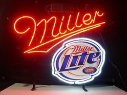 Miller lite bar lights dhgate uk new miller lite real glass neon sign light beer bar pub arts crafts gifts lighting 22 aloadofball Gallery