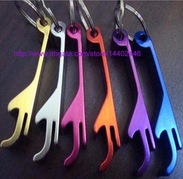 Chinese  500pcs Free Laser Logo key chain metal aluminum alloy keychain ring beer Can bottle opener Openers Tool Gear Beverage custom personalized manufacturers