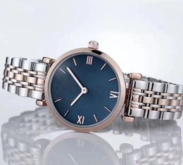 Damas Coreanas Vestidos Casual Baratos-ginebra rose gold women dress relojes mujeres estudiantes versión coreana de la moda simple ladies watch correa de cuero impermeable