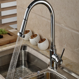 Wholesale And Retail Brand NEW Luxury Pull Out Sprayer Kitchen Faucet  Vessel Sink Mixer Tap Deck Mounted Single Handle Hole