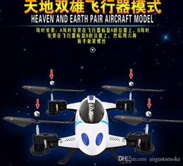 Helicopters Toys Camera Australia - WIFI control RC Drones flying and run car toy helicopter Quadcopter with 2M HD Camera 2.4G 6-Axis with light 2 function new