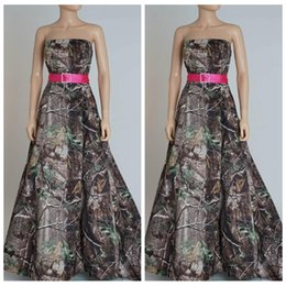 best sale strapless a line camo wedding dresses chapel train camouflage outside ribbon custom online bridal gowns for ladies 2016 cheap sale affordable