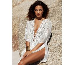 $enCountryForm.capitalKeyWord Australia - NEW! Sexy Swimwear Bikini Lace Beach Cover Up White Swimsuit Cover Up Fashion Women Beach Wear 9325