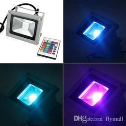 outdoor light control 2019 - Outdoor Led Flood Light 10W 20W 30W 50W 100W RGB Colour Changing Floodlight Wall Washer Lamp IP65 Waterproof + 24key IR