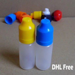 Bottle For Eye Drops Canada - Eye Drop Bottles 10ml Plastic Dropper Bottles with Childproof Caps and Long Thin Tip Needle Bottle for E Cigarettes Liquid 10ml Bottles