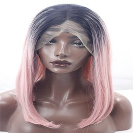 $enCountryForm.capitalKeyWord Australia - lace front wigs new color pink long straight hair color blend of color of the former wig synthetic kosi wig African American fashion wig