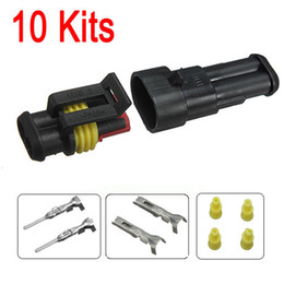$enCountryForm.capitalKeyWord Canada - 10sets New Car Part 2 Pin Way Sealed Waterproof Electrical Wire Auto Connector Plug Set FREE SHIPPING