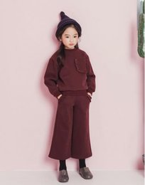 $enCountryForm.capitalKeyWord Canada - Korean girls suit cashmere sweater brim nine wide leg pants children thickened two sets of winter clothing, the style you want