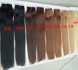 50g 20pcs / Pack-Kleber-Haut-einschlag PU-Band in der Menschenhaar Verlängerungen 18 20 22 24inch brasilianische indische Haarverlängerung im Angebot