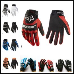 Barato Luvas De Inverno 4xl-Wholesales 5 Colors Fox Cycling Racing Luvas Autumn Winter Luvas Full Finger Mountain para MTB Road Bike Bicycle