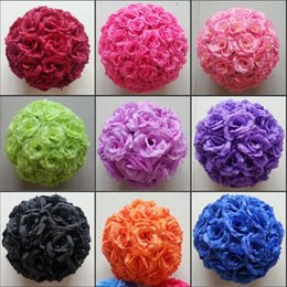 "$enCountryForm.capitalKeyWord Canada - 8"" 20cm Elegant Wedding Decoration Products Artificial Roses Flower Balls Hanging Kissing Ball Craft Ornament For Party Suplies 16 colors"