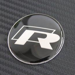 $enCountryForm.capitalKeyWord Canada - 45mm R Logo Car Steering Wheel Badge Sticker Decals logo emblem For Volkswagen VW R Series R36 R400 R32 R20 R50 Golf Passat