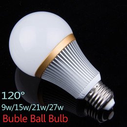 BuBBle Ball BulB lamp online shopping - 3X3W X5W X7W X9W LED Bubble Ball Bulbs Dimmable V V E27 Lamp Bombillas led Light Bulbs lampada Lamps Lights