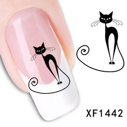 Chinese  60 Styles 3D Water Transfer Nails Art Sticker decals Watermark flowers Cat Butterfly Lady Women Manicure Tools Nail Wraps Decals manufacturers
