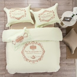 Barato Bordado De Algodão Elegante-Davebella 2015 New Embroidery 4PCS Bedding Sets 100% Cotton Fashion Bordado Home Textiles Elegant Home Collection