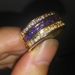 $enCountryForm.capitalKeyWord Canada - Victoria Wieck Antique Jewelry Men 10KT Gold Filled Amethyst Diamonique Band Ring Sz 9 10 11 12
