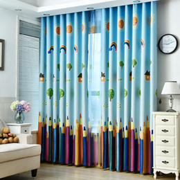 Discount Blackout Curtains Kids Room Rainbows And Pencils Children Curtains  Baby Room Curtains For Living Room