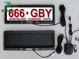 Ücretsiz kargo ! Uzaktan kumanda araba lisans çerçevesi ile Avustralya Araç Plaka Çerçevesi kapak plakası çerçeve