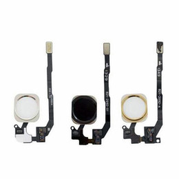 Iphone 5s Complete UK - 5S Home Button Flex Cable Ribbon Assembly For iPhone 5S home button complete Repair part white black gold