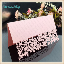 $enCountryForm.capitalKeyWord Canada - 50X FreeShipping New Arrival Wedding Invitation Party Decorations Laser Cutting Place Seat Name Card Cross Leaf Design Paper Table Decor