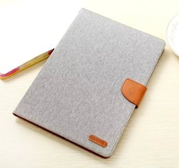 $enCountryForm.capitalKeyWord Australia - 7 Colors Capa For Apple ipad Air 2 wallet Case Original Canvas Skin leather Cover Tablet Flip Book Style Stand with card slot