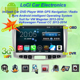Vw Stereos Android Australia - Car dvd Multimedia radio android player for VW volkswagen Magotan Passat CC 2012- 2014,gps navigation,Pure android 4.4.4, Quad Core